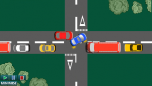 Image turning right accident 3