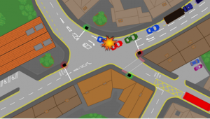 Image traffic lights accident 1